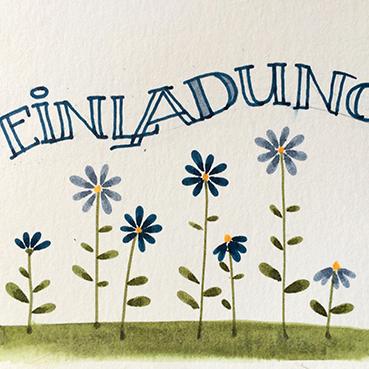 Mit einer Farbe der Blüten schreibst du die Outline.